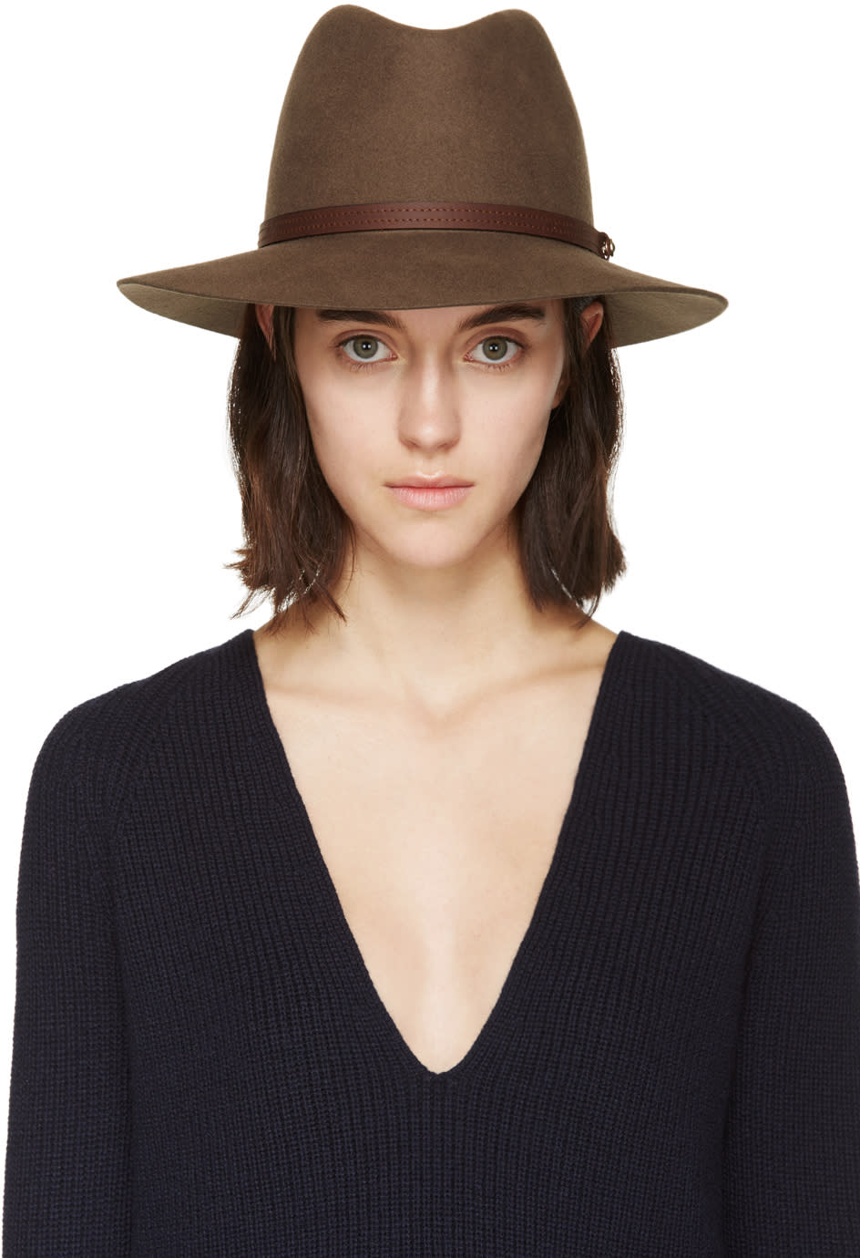 Rag and Bone Brown Felted Wool Fedora
