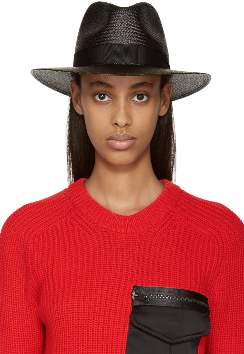 Rag and Bone Black Panama Hat
