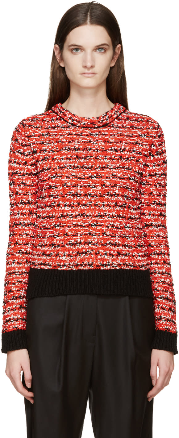 Rag and Bone Red Knit Viola Sweater