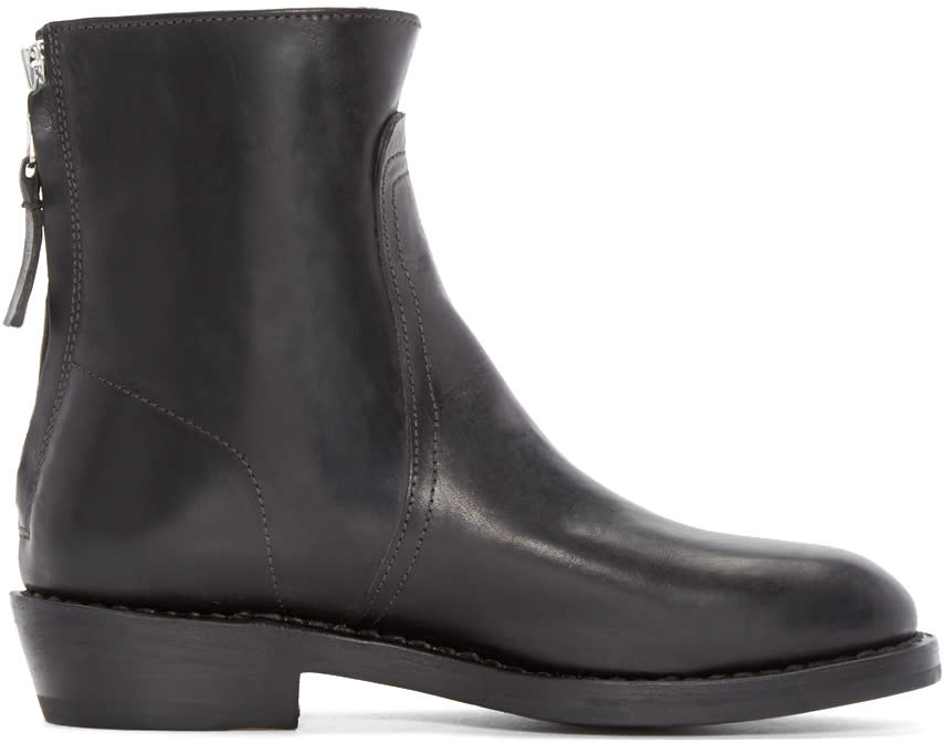 Rag and Bone Black Daria Biker Boots