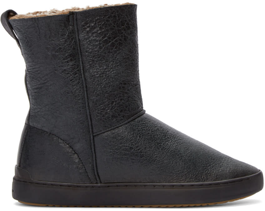 Rag and Bone Black Shearling Kali Boots