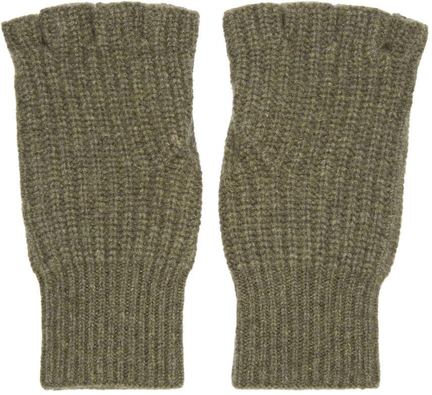Rag and Bone Green Cashmere Kaden Gloves