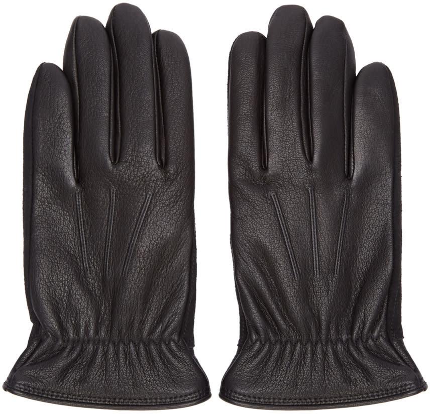 Rag and Bone Black Leather Windsor Gloves