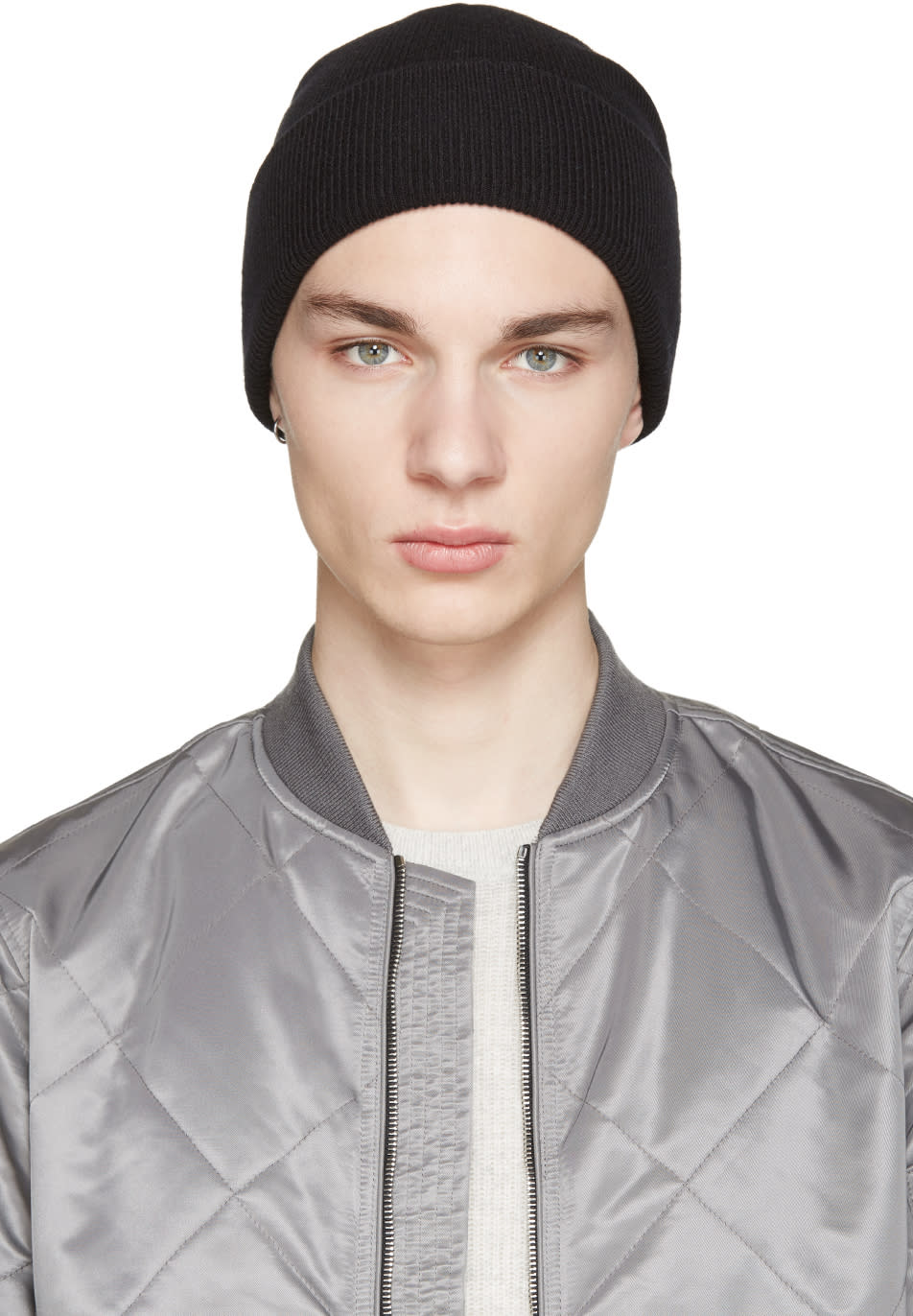 Rag and Bone Black Standard Issue Beanie