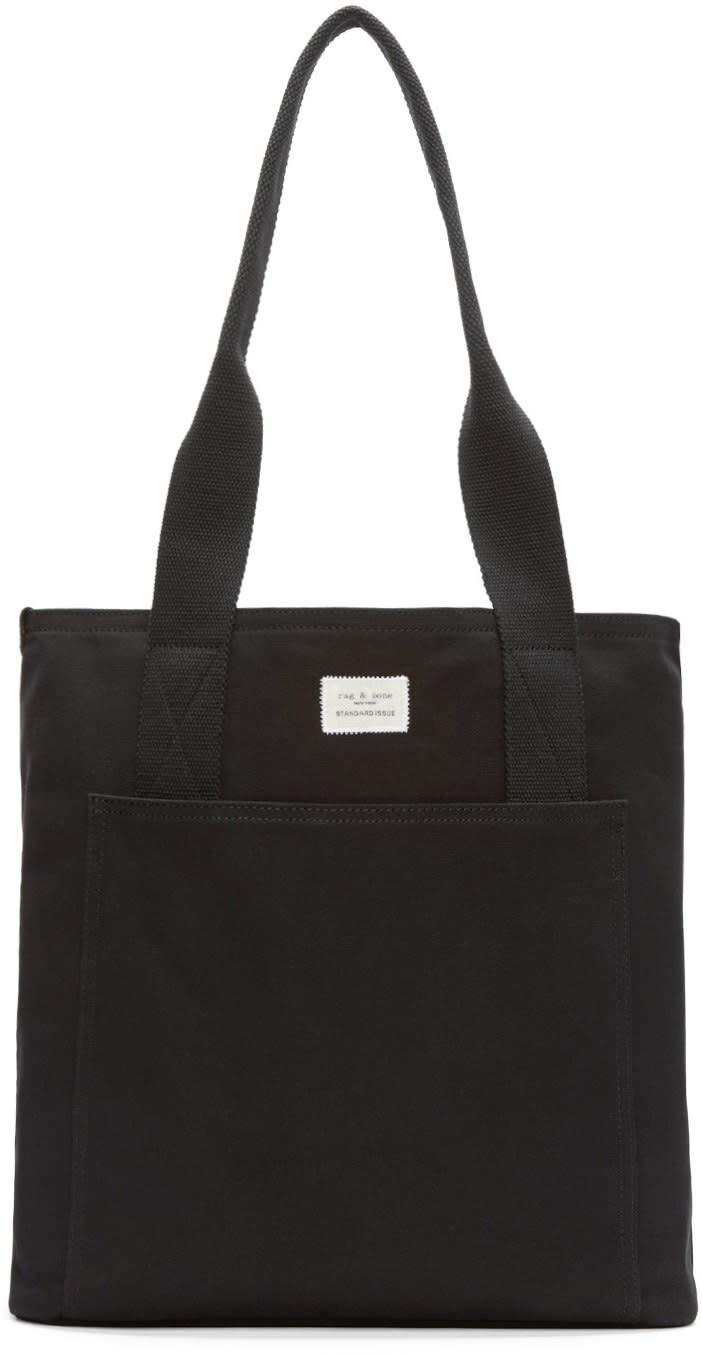 Rag and Bone Black Canvas Standard Tote Bag