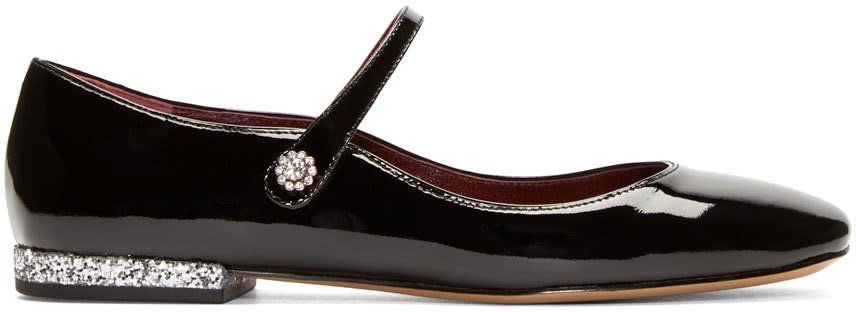 Marc By Marc Jacobs Black Leather Brooke Mary Janes