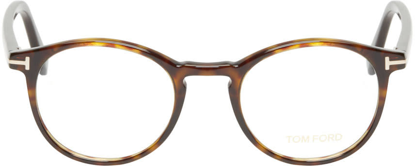 Tom Ford Brown Tortoiseshell Tf5294 Optical Glasses