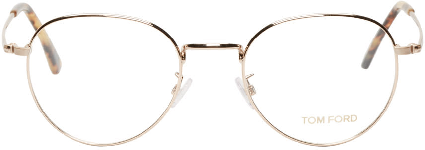 Tom Ford Gold Metal Tf5328 Optical Glasses
