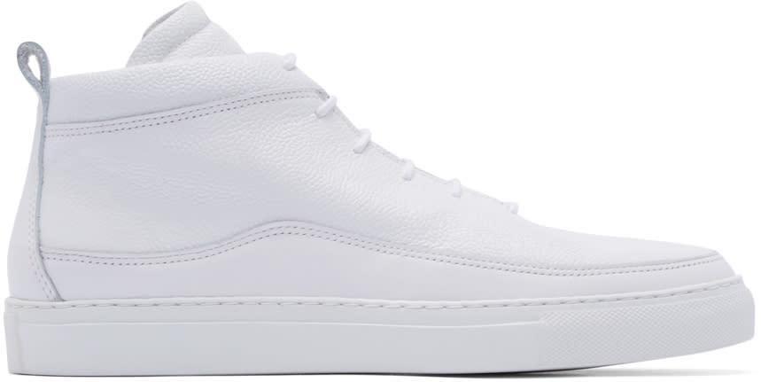 Public School White Braeburn Mid-top Sneakers