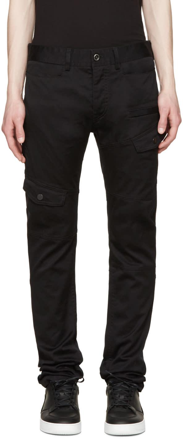 Diesel Black Gold Black Cotton Cargo Pants