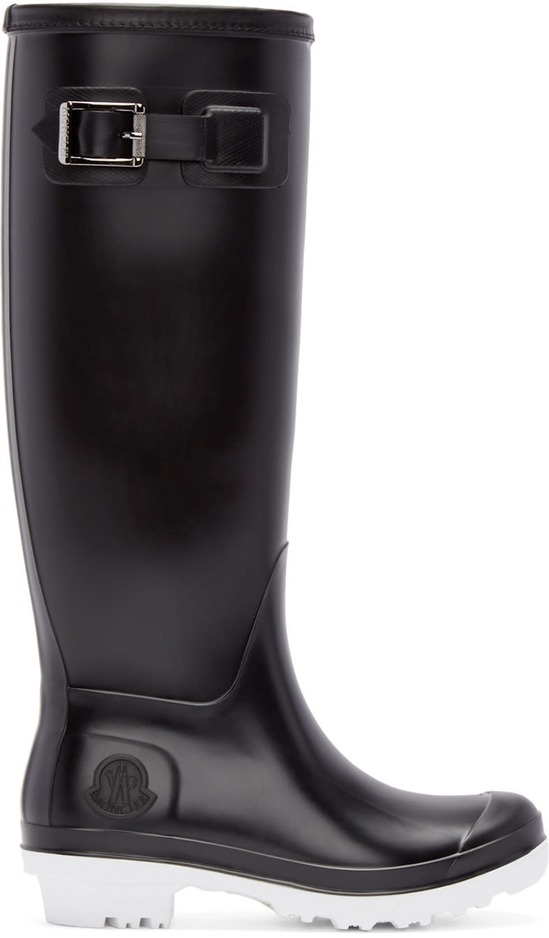 Moncler Black Hermine Rubber Boots