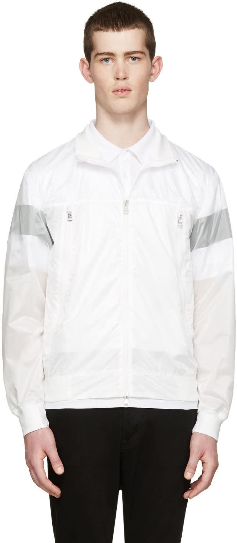 Moncler White Nylon Farais Jacket