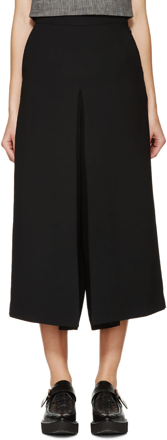 Mcq Alexander Mcqueen Black Pleated Trousers