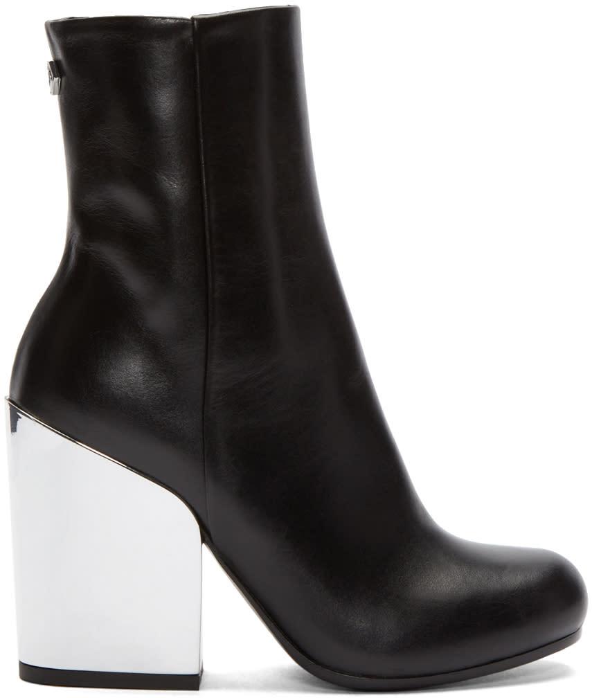 Mcq Alexander Mcqueen Black Mirrored Heel Gefrye Boots
