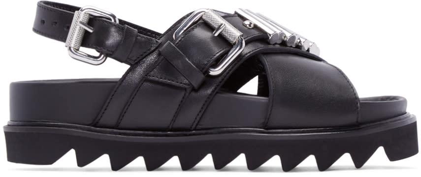 Mcq Alexander Mcqueen Black Bullet Trim Sandals