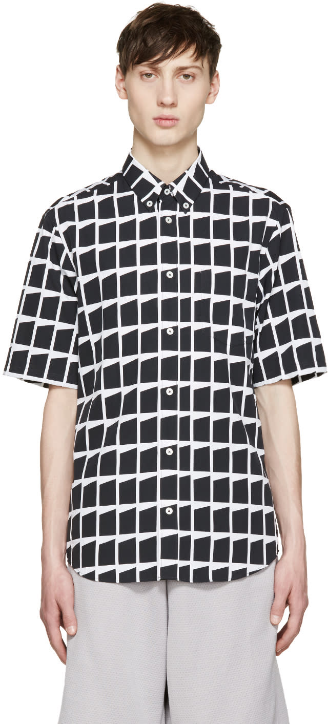 Mcq Alexander Mcqueen Black and White Shields Shirt