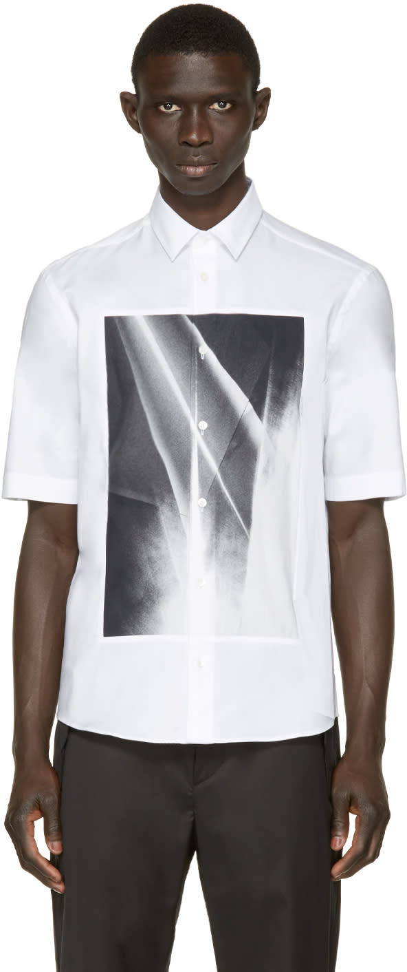 Mcq Alexander Mcqueen White Graphic Square Shirt