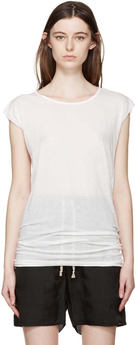 Rick Owens Drkshdw White Long T-shirt