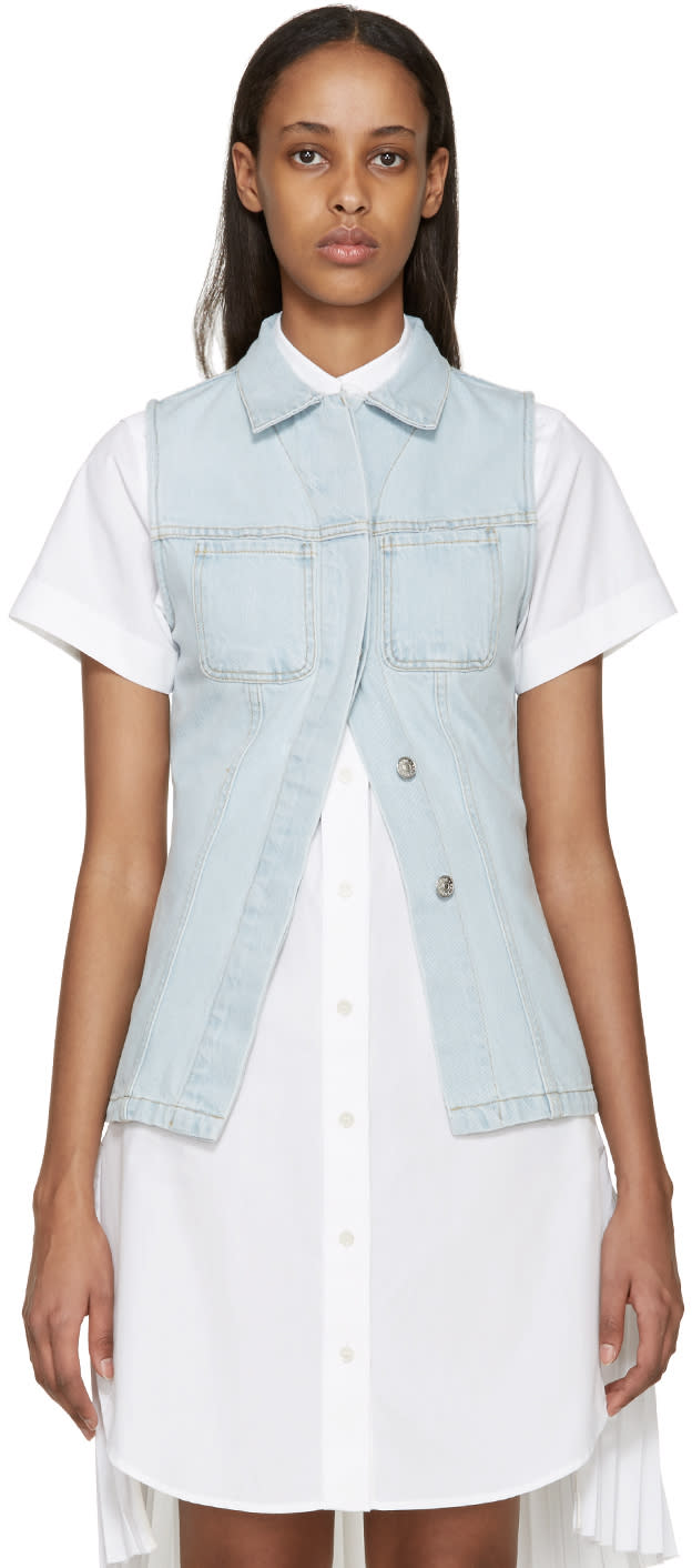 Acne Studios Blue Denim Gracella Vest