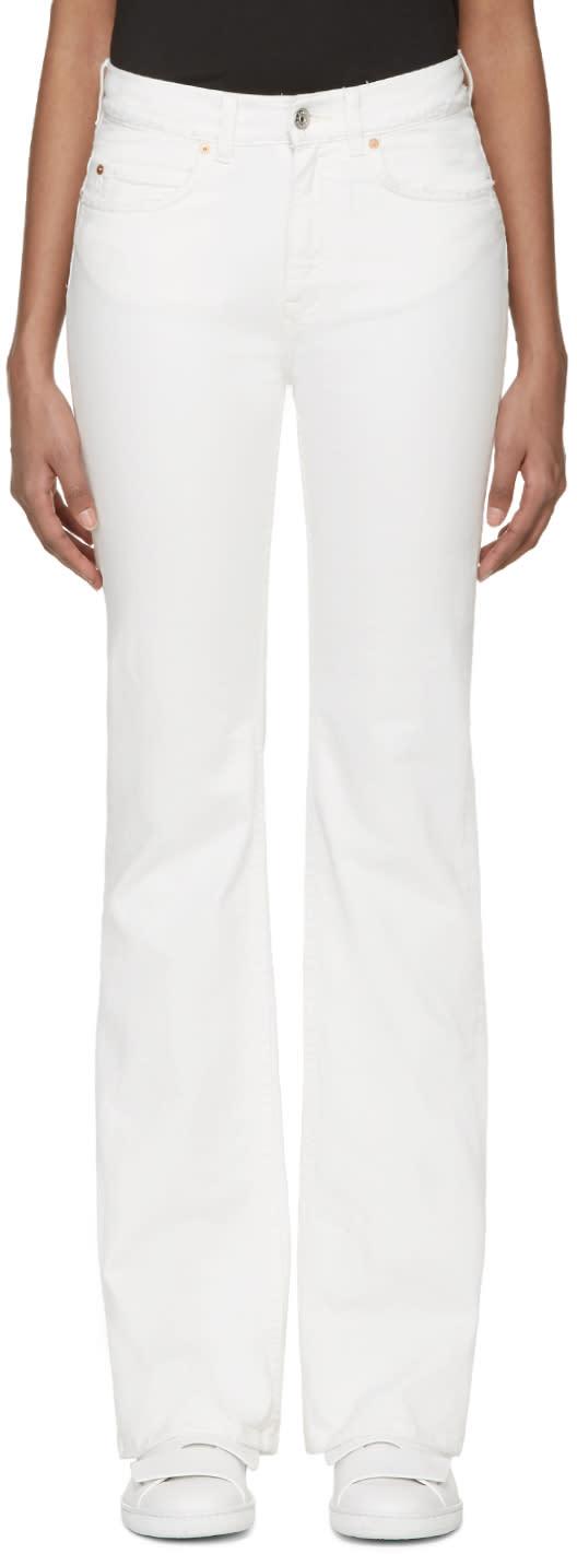 Acne Studios White Frayed Lita Jeans