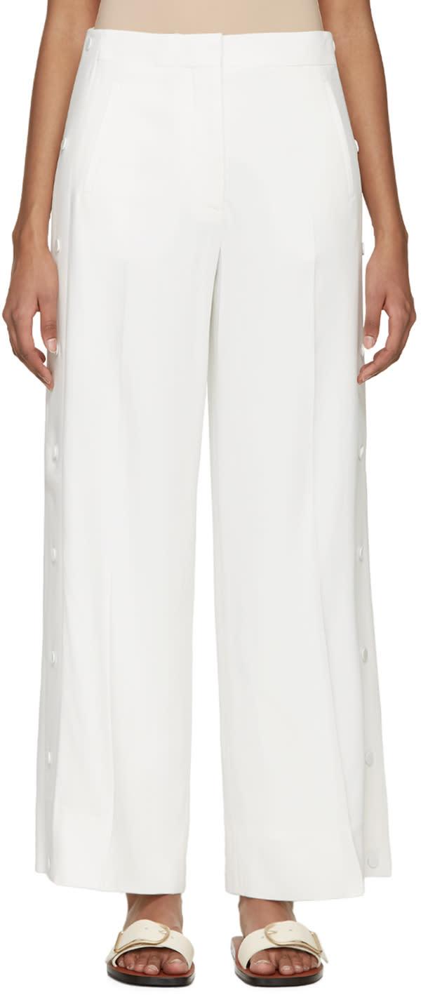 Acne Studios White Crepe Oshea Trousers