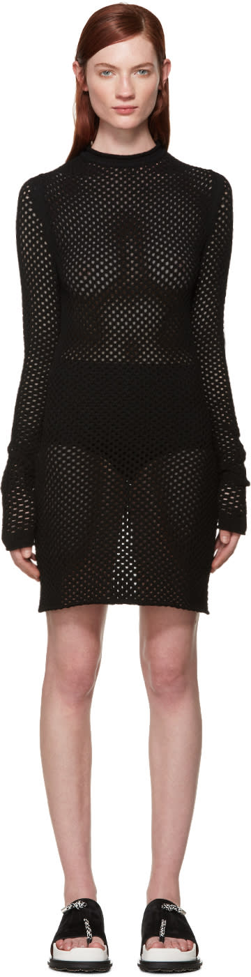 Acne Studios Black Open Knit Alca Dress