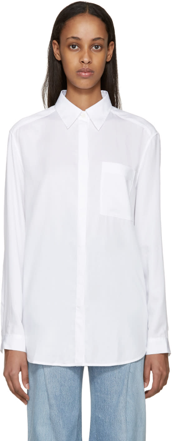 Acne Studios White Denim Addle Shirt