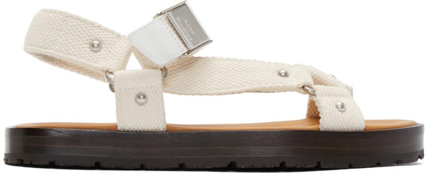 Acne Studios White Ester Sandals