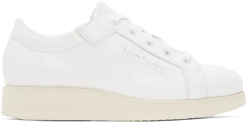 Acne Studios White Leather Kobe Sneakers