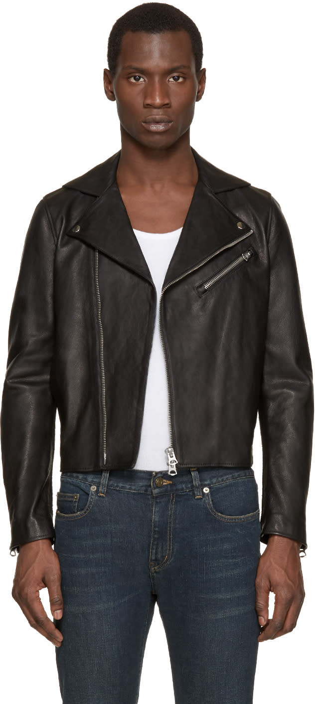 Acne Studios Black Leather Gibson Jacket