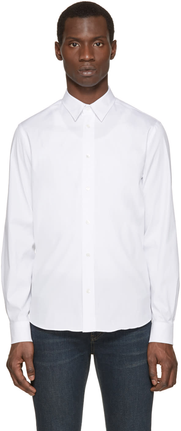 Acne Studios White Jeffrey Stretch Shirt