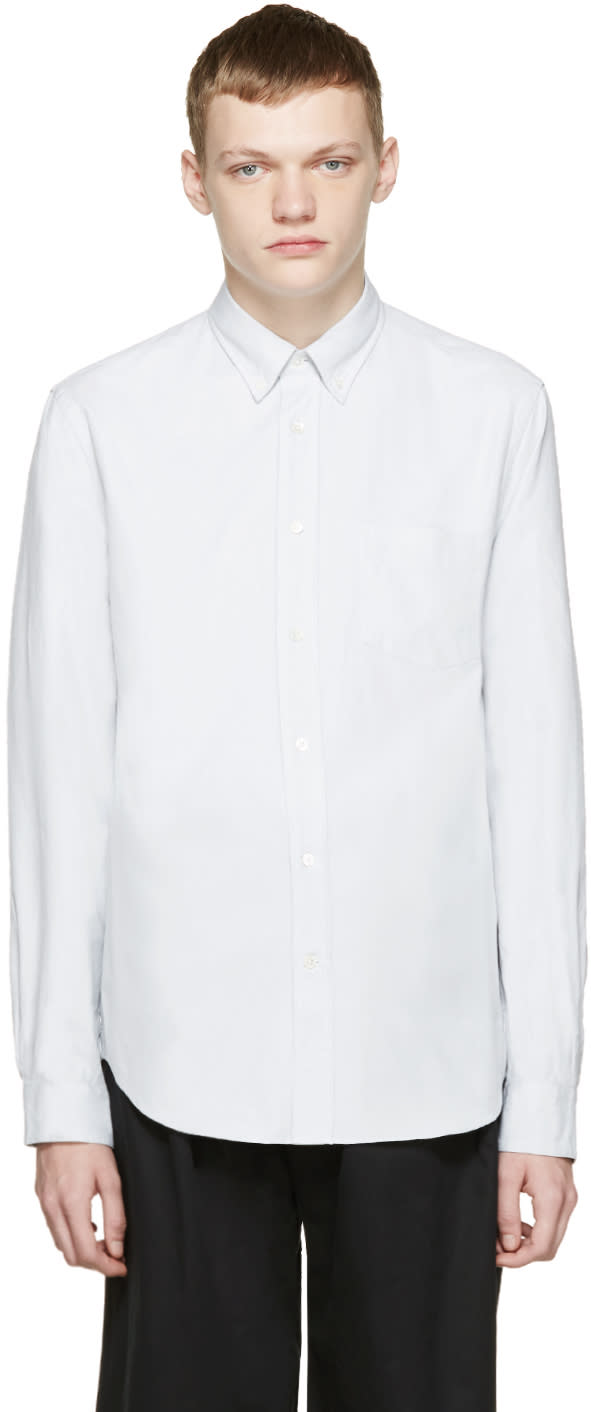 Acne Studios Grey Oxford Isherwood Shirt