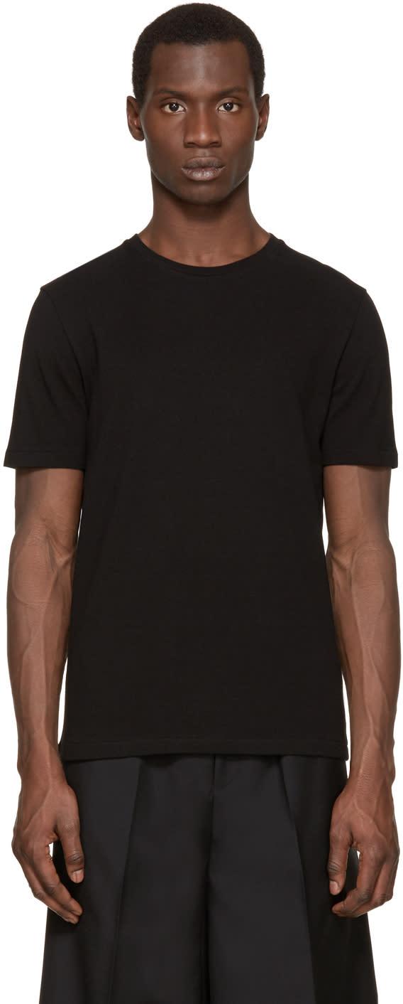 Acne Studios Black Eddy Pique T-shirt