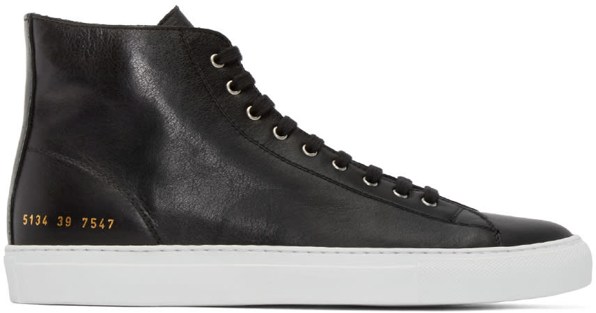 Common Projects Black Tournament High-top Sneakers