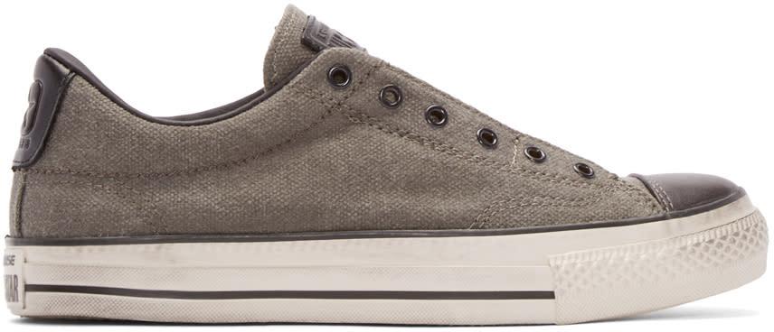 Converse By John Varvatos Grey Vintage Slip-on Sneakers