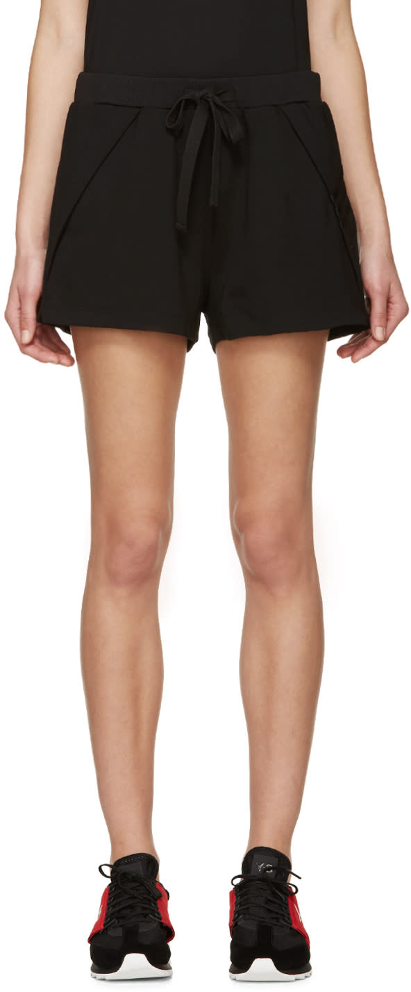 Y-3 Black Sweatshirt Shorts
