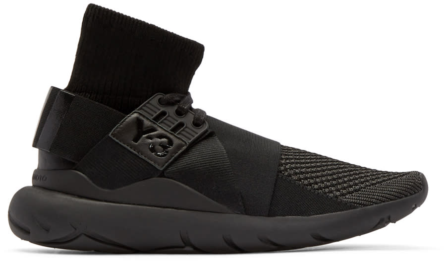 Y-3 Black Qasa Elle High-top Sneakers