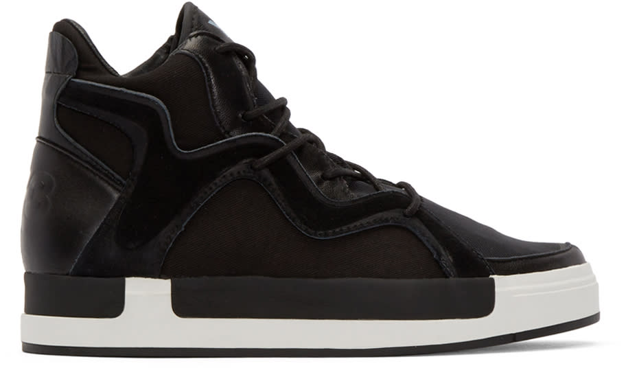 Y-3 Black Riyal Iii High-top Sneakers