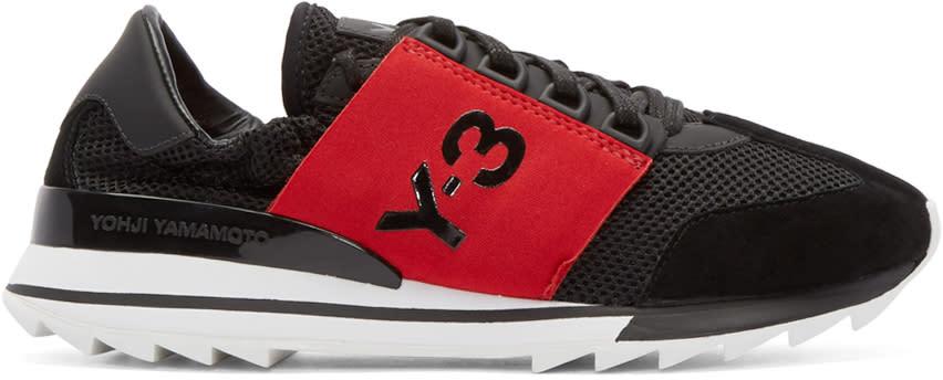 Y-3 Black Rhita Sport Sneakers