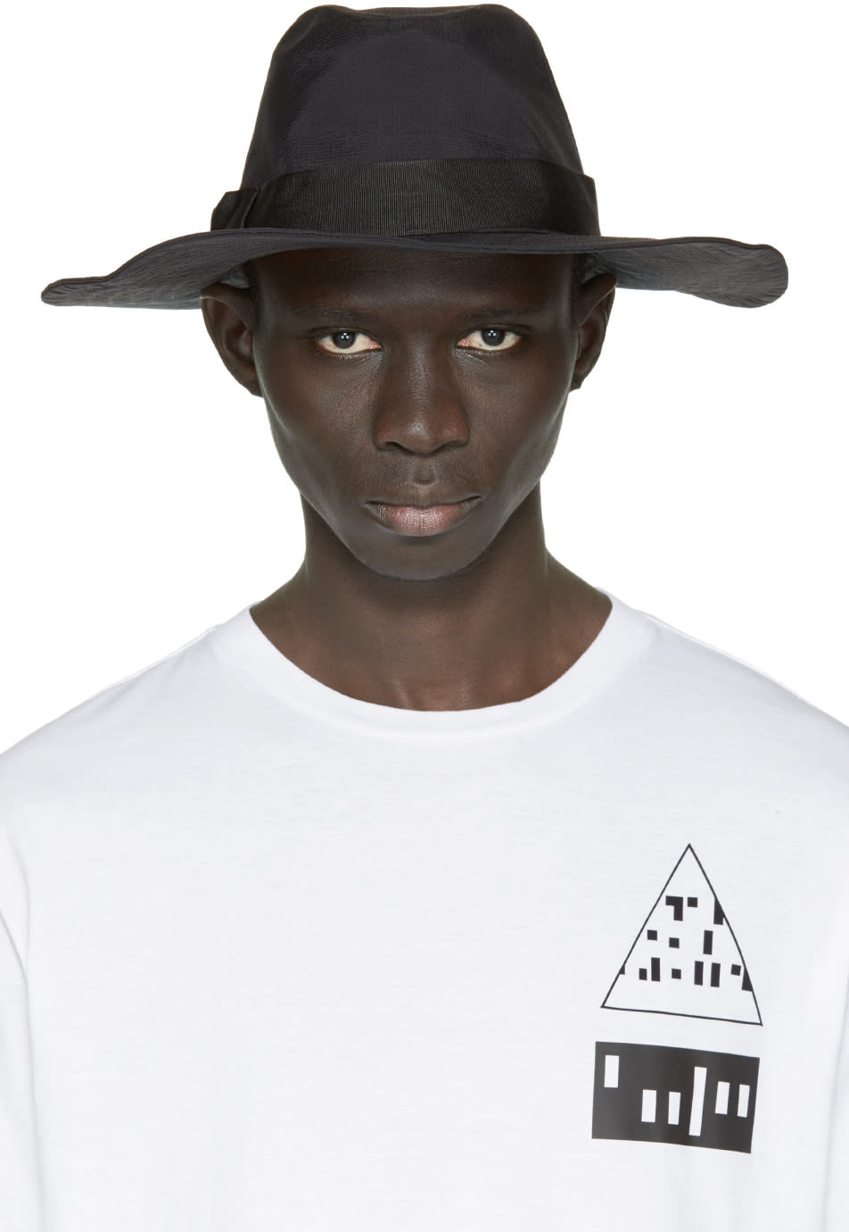 Y-3 Black Nylon Fedora