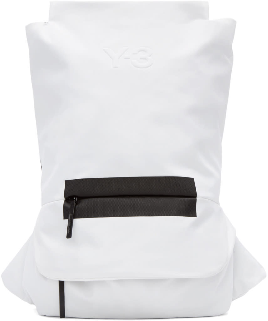 Y-3 Black and White Fs Backpack