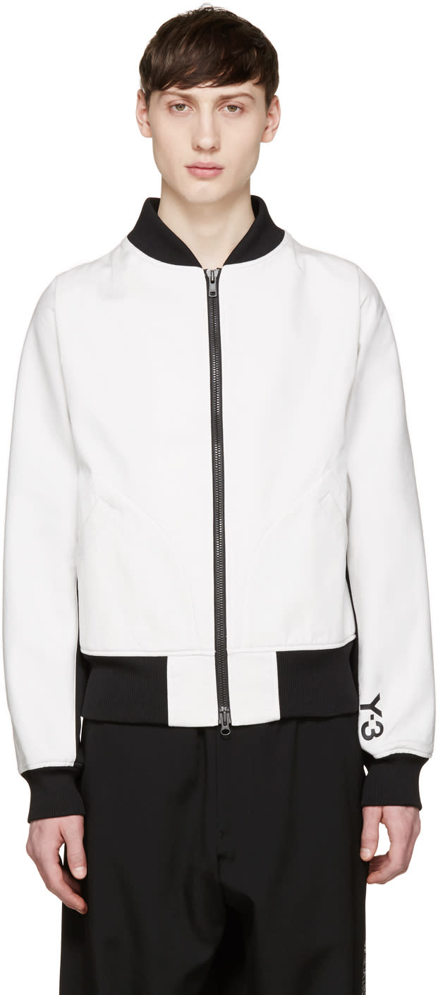 Y-3 White Future Bomber Jacket