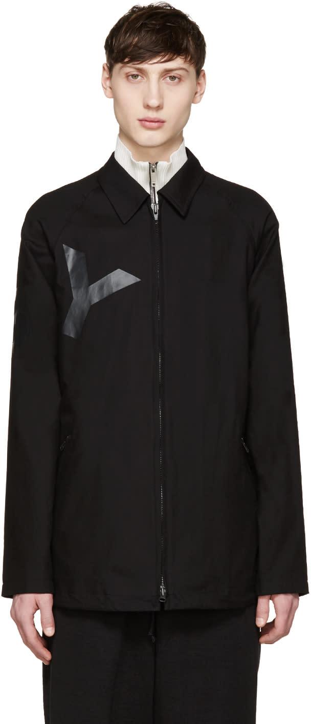 Y-3 Black Twill Tab Jacket