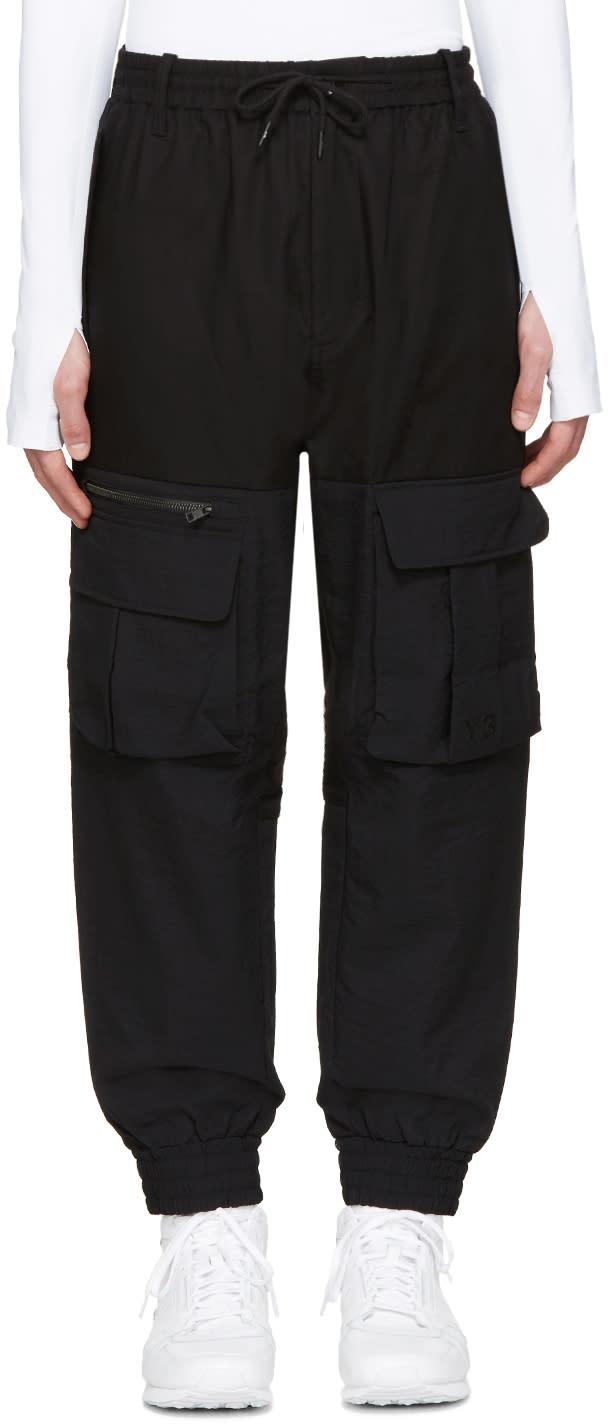 Y-3 Black Air Mesh Cargo Pants