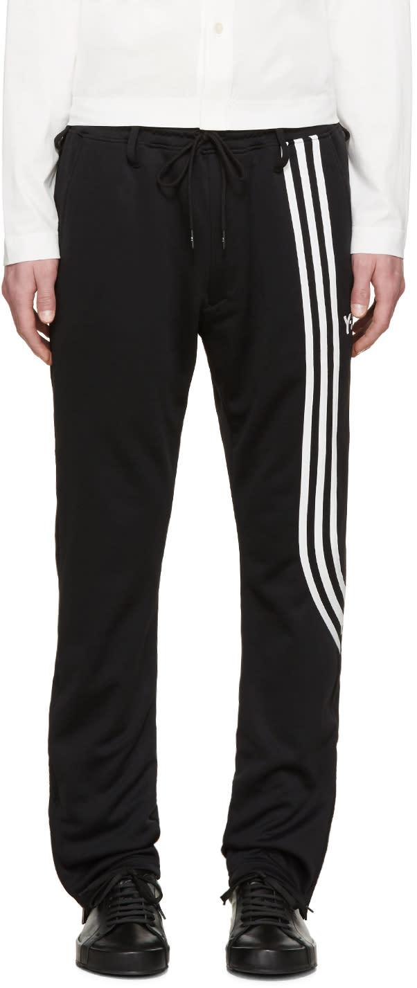 Y-3 Black Fluid Stripe Lounge Pants
