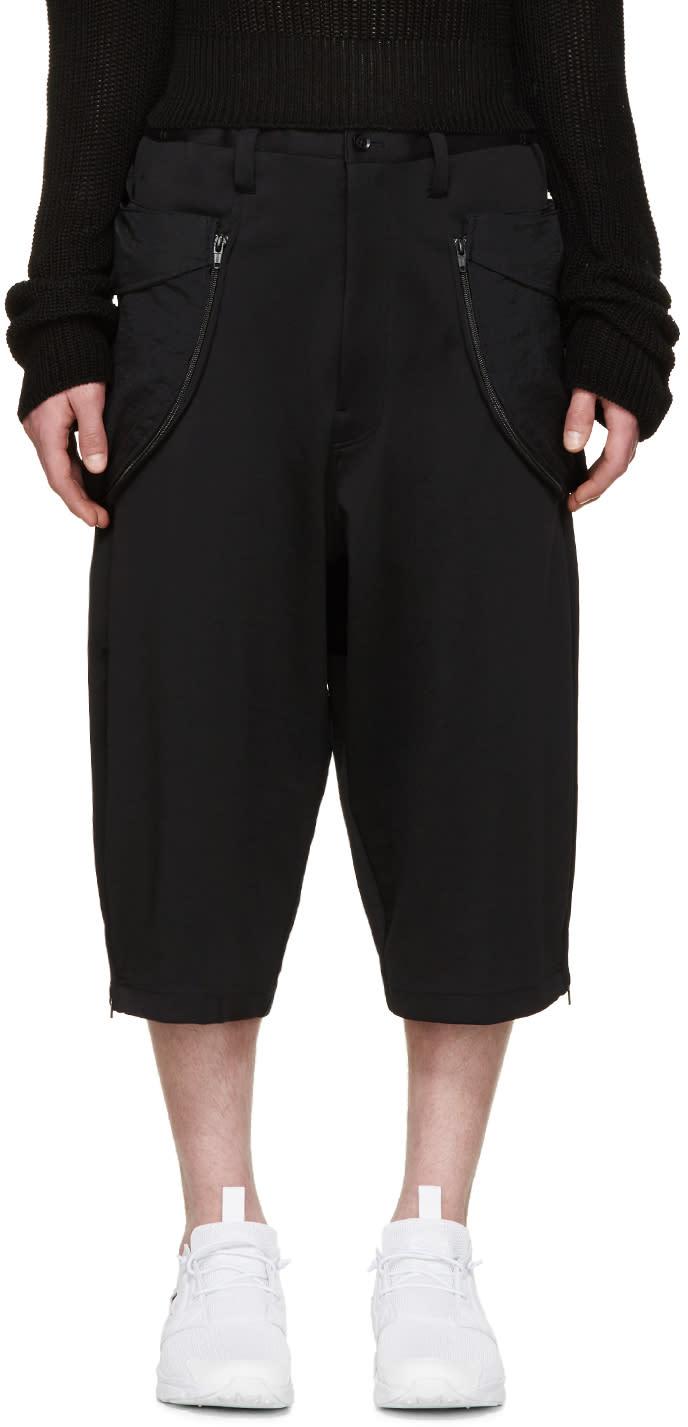 Y-3 Black Reverse Track Shorts