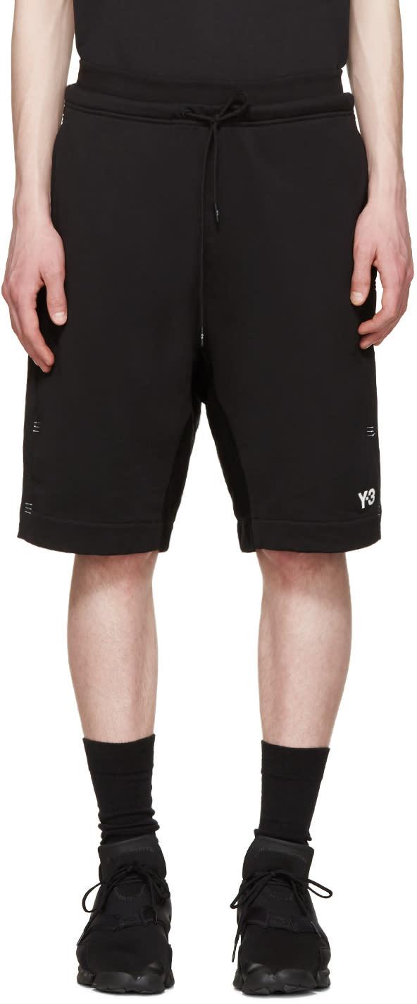Y-3 Black Bar Tack Shorts