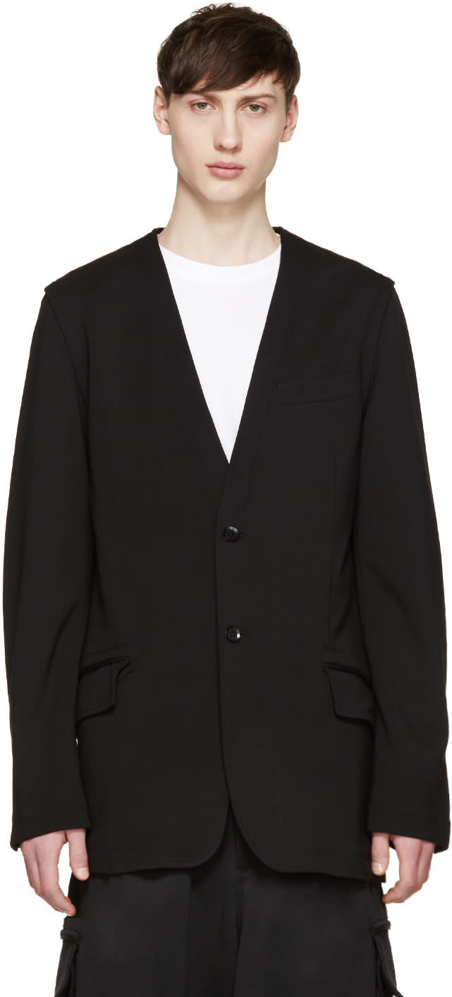 Y-3 Black Multizip Blazer