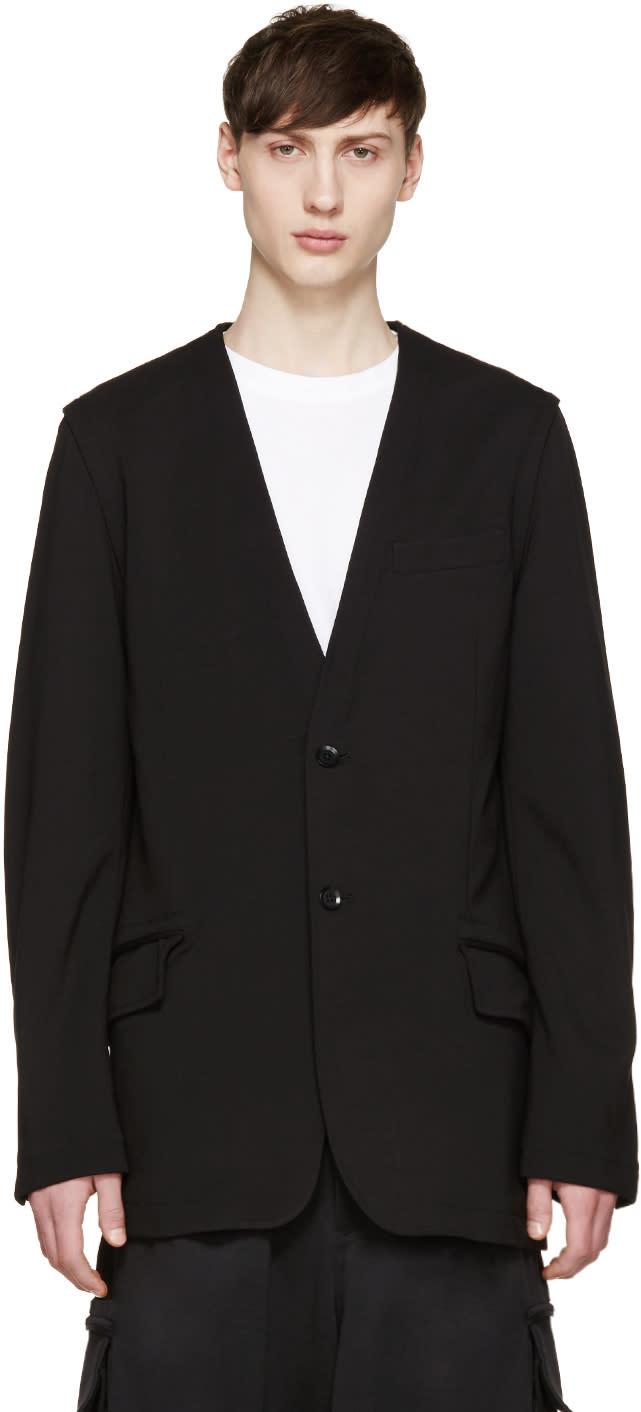 Y-3 Black Multizip Blazer