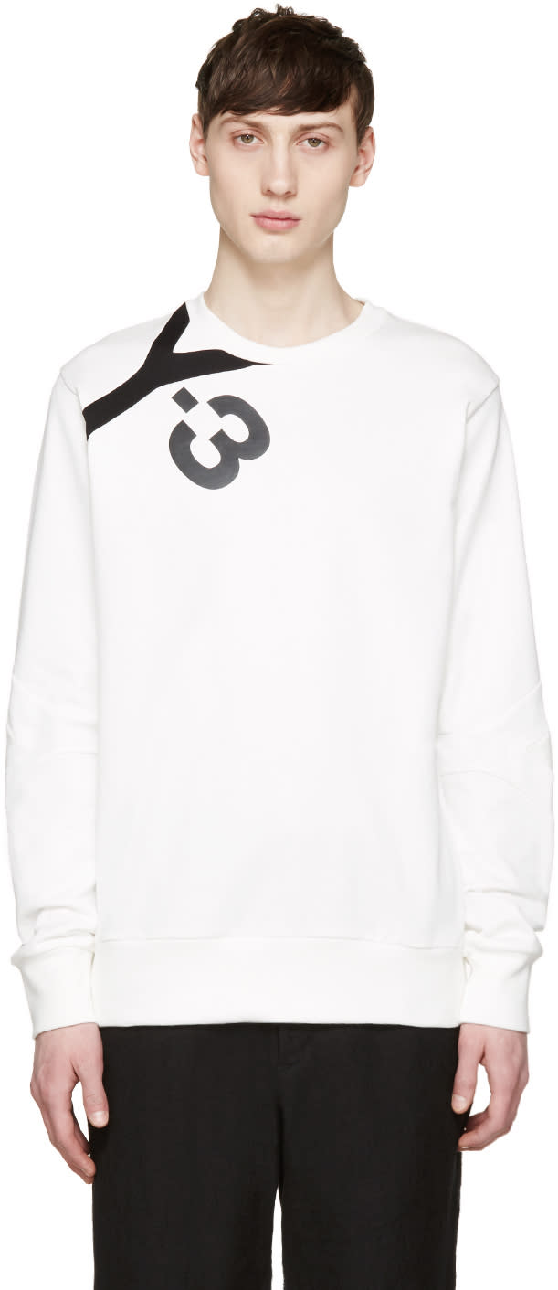 Y-3 White Logo Pullover